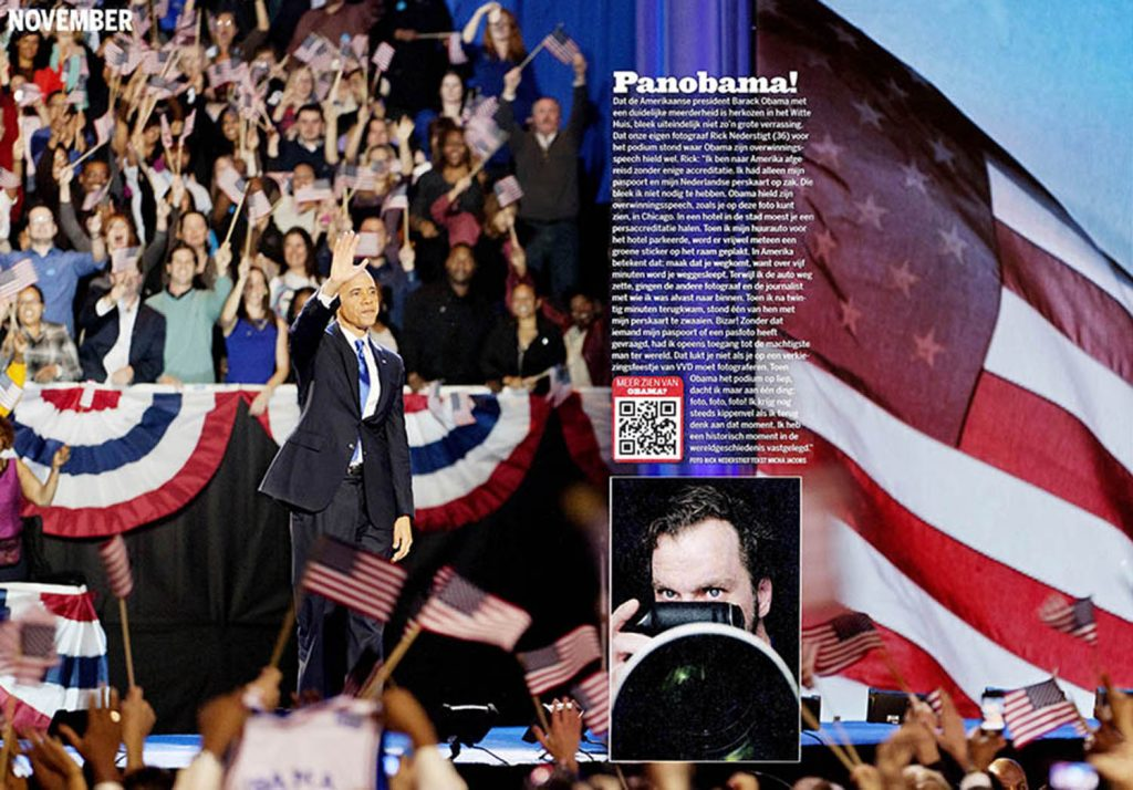 Rick Nederstigt Fotografie Foto Publicatie Barack Obama verkiezingen america USA